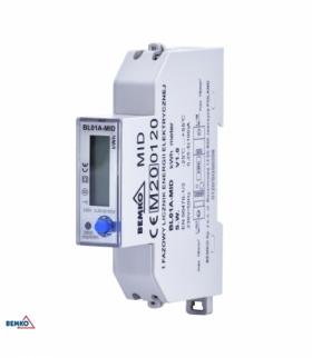 LICZNIK ENERGII 1 FAZOWY MID BEMKO A31-BL01A-MID