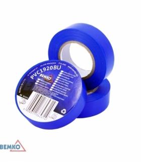 TAŚMA IZOLACYJNA 19x20m NIEBIESKA/BLUE BEMKO E30-PVC1920BU