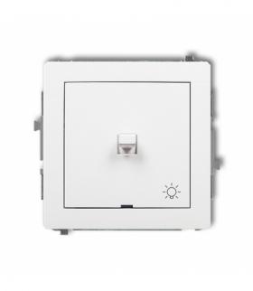 DECO Mechanizm łącznika zwierny światło w stylu amerykańskim Biały Karlik DWPUS-5