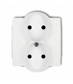 DECO Mechanizm gniazda podwojnego do ramki DECO Soft bez uziemienia 2x2P (przesłony torów prądowych) Biały Karlik DGPRSO-2p
