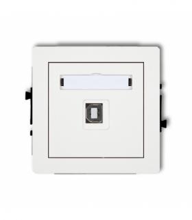 DECO Mechanizm gniazda pojedynczego USB-AB2.0 Biały Karlik DGUSB-3
