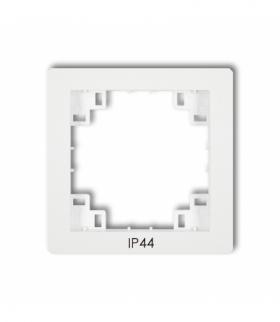 prod. uzupełniające Ramka pośrednia do łączników IP44 Biały Karlik DRPH