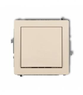 DECO Mechanizm łącznika krzyżowego (jeden klawisz bez piktogramu) Beżowy Karlik 1DWP-6.1