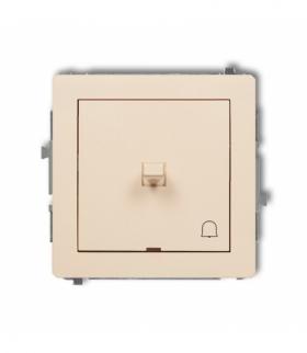 DECO Mechanizm łącznika zwierny dzwonek w stylu amerykańskim Beżowy Karlik 1DWPUS-4