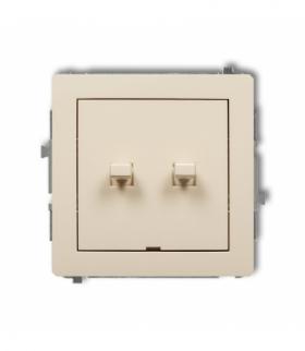 DECO Mechanizm łącznika zwiernego świecznikowego w stylu amerykańskim (dwa klawisze bez piktogramów wspólne zasilanie) Beżowy Ka