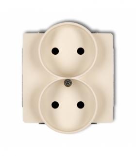 DECO Mechanizm gniazda podwojnego do ramki DECO Soft bez uziemienia 2x2P (przesłony torów prądowych) Beżowy Karlik 1DGPRSO-2p