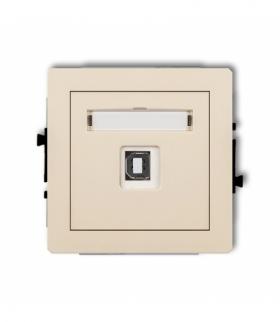 DECO Mechanizm gniazda pojedynczego USB-AB 2.0 Beżowy Karlik 1DGUSB-3