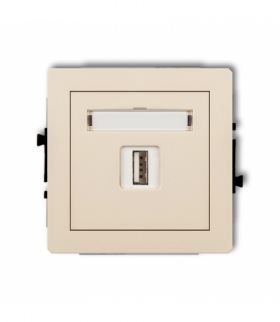 DECO Mechanizm ładowarki USB pojedynczej 5V 2A Beżowy Karlik 1DCUSB-3