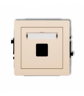 DECO Mechanizm gniazda multimedialnego pojedynczego bez modułu (standard Keystone) Beżowy Karlik 1DGM-1P