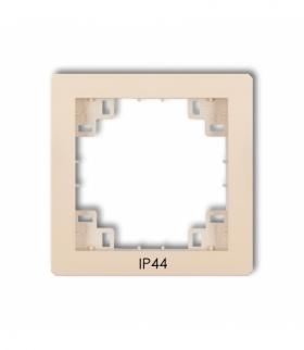 prod. uzupełniające Ramka pośrednia do łączników IP44 Beżowy Karlik 1DRPH
