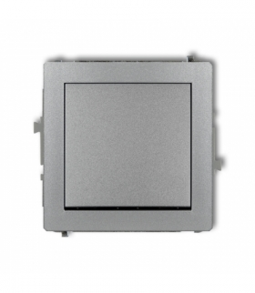 DECO Mechanizm łącznika schodowego (jeden klawisz bez piktogramu) Srebrny metalik Karlik 7DWP-3.1
