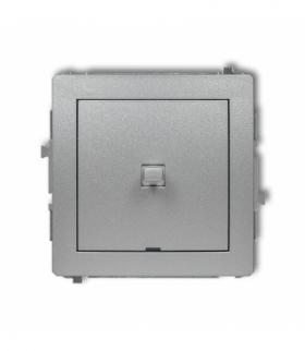 DECO Mechanizm łącznika schodowego w stylu amerykańskim (jeden klawisz bez piktogramu) Srebrny metalik Karlik 7DWPUS-3.1