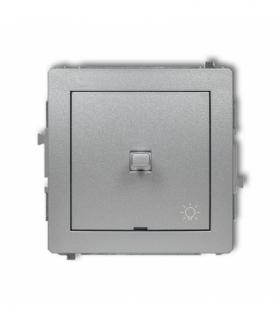DECO Mechanizm łącznika zwierny światło w stylu amerykańskim Srebrny metalik Karlik 7DWPUS-5
