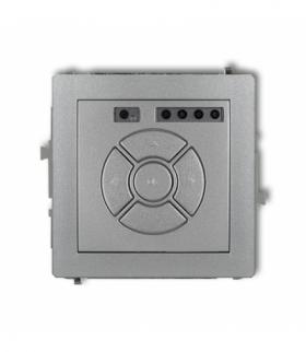 DECO Mechanizm elektronicznego sterownika roletowego (przycisk centralny/dodatkowy) Srebrny metalik Karlik 7DSR-6