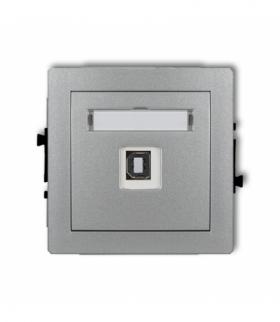 DECO Mechanizm gniazda pojedynczego USB-AB 2.0 Srebrny metalik Karlik 7DGUSB-3