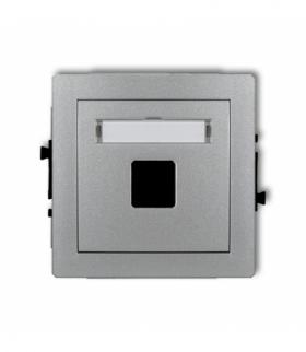 DECO Mechanizm gniazda multimedialnego pojedynczego bez modułu (standard Keystone) Srebrny metalik Karlik 7DGM-1P