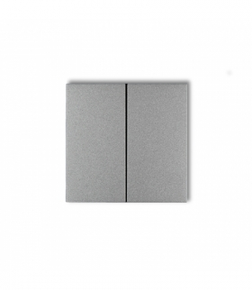 prod. uzupełniające Klawisze podwójne do łączników DECO FLEXI MINI (komplet dwóch sztuk) Srebrny metalik Karlik 7DKL-2