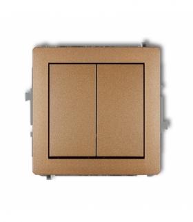 DECO Mechanizm łącznika podwójnego schodowego (dwa klawisze bez piktogramów) Złoty metalik Karlik 8DWP-33.1