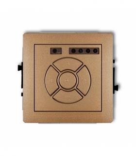 DECO Mechanizm elektronicznego sterownika roletowego (przycisk centralny/dodatkowy) Złoty metalik Karlik 8DSR-6