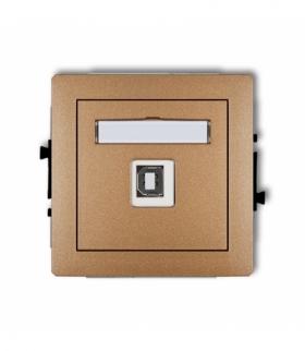 DECO Mechanizm gniazda pojedynczego USB-AB 2.0 Złoty metalik Karlik 8DGUSB-3