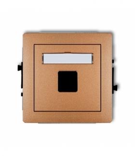DECO Mechanizm gniazda multimedialnego pojedynczego bez modułu (standard Keystone) Złoty metalik Karlik 8DGM-1P