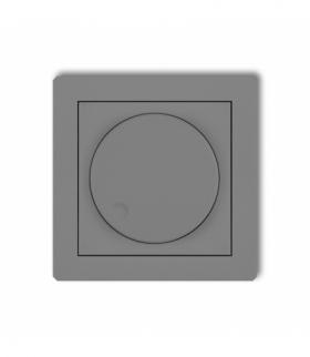 DECO Mechanizm elektronicznego regulatora oświetlenia przyciskowo-obrotowego Szary mat Karlik 27DRO-1