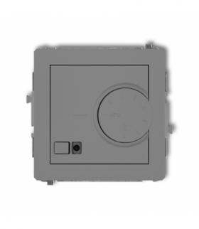 DECO Mechanizm elektronicznego regulatora temperatury z czujnikiem podpodłogowym Szary mat Karlik 27DRT-1