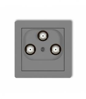 DECO Mechanizm gniazda multimedialnego 3F DATA (Vectra) Szary mat Karlik 27DGMV