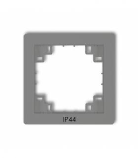 prod. uzupełniające Ramka pośrednia do łączników IP44 Szary mat Karlik 27DRPH