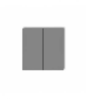 prod. uzupełniające Klawisze podwójne do łączników DECO MINI (komplet dwóch sztuk) Szary mat Karlik 27DKL-2