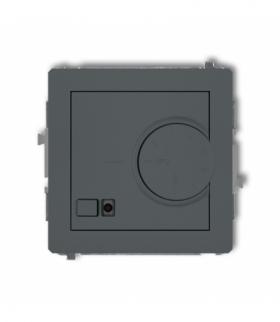 DECO Mechanizm elektronicznego regulatora temperatury z czujnikiem podpodłogowym Grafitowy mat Karlik 28DRT-1