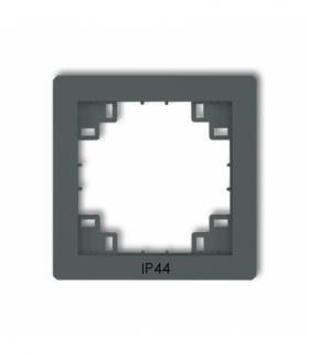 prod. uzupełniające Ramka pośrednia do łączników IP44 Grafitowy mat Karlik 28DRPH