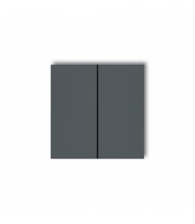 prod. uzupełniające Klawisze podwójne do łączników DECO MINI (komplet dwóch sztuk) Grafitowy mat Karlik 28DKL-2