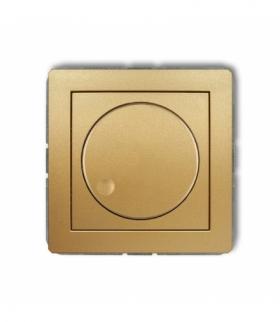 DECO Mechanizm elektronicznego regulatora oświetlenia przyciskowo-obrotowego do lamp LED Złoty Karlik 29DRO-2