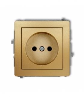 DECO Mechanizm gniazda pojedynczego bez uziemienia 2P (przesłony torów prądowych) Złoty Karlik 29DGP-1p