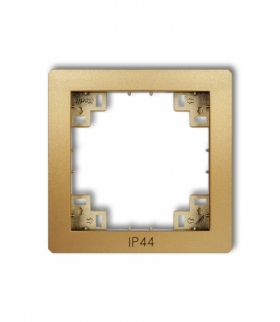 prod. uzupełniające Ramka pośrednia do łączników IP44 Złoty Karlik 29DRPH
