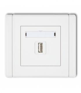 FLEXI Gniazdo pojedyncze USB-AA 3.0 Biały Karlik FGUSB-5