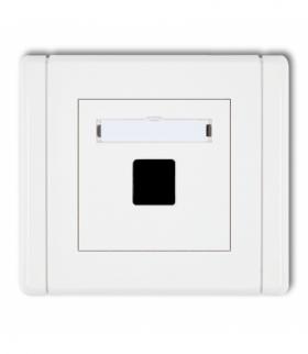 FLEXI Gniazdo multimedialne pojedyncze bez modułu (standard Keystone) Biały Karlik FGM-1P