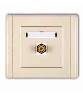 FLEXI Gniazdo pojedyncze RCA (typu cinch - żółty pozłacane) Beżowy Karlik 1FGRCA-1