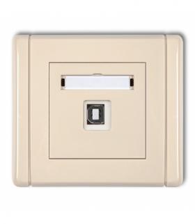 FLEXI Gniazdo pojedyncze USB-AB 2.0 Beżowy Karlik 1FGUSB-3