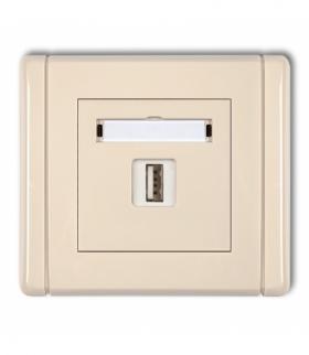 FLEXI Gniazdo pojedyncze USB-AA 3.0 Beżowy Karlik 1FGUSB-5