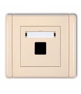 FLEXI Gniazdo multimedialne pojedyncze bez modułu (standard Keystone) Beżowy Karlik 1FGM-1P