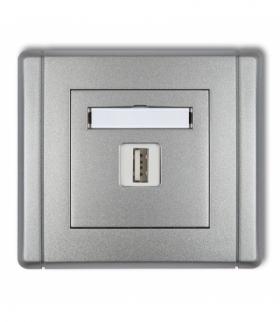 FLEXI Ładowarka USB pojedyncza 5V 2A Srebrny metalik Karlik 7FCUSB-3