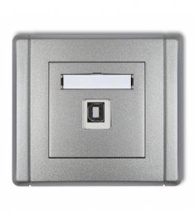 FLEXI Gniazdo pojedyncze USB-AB 2.0 Srebrny metalik Karlik 7FGUSB-3
