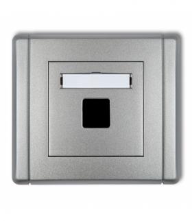 FLEXI Gniazdo multimedialne pojedyncze bez modułu (standard Keystone) Srebrny metalik Karlik 7FGM-1P