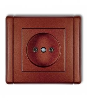 FLEXI Gniazdo pojedyncze bez uziemienia 2P (bez przesłon torów prądowych) Brązowy metalik Karlik 9FGP-1