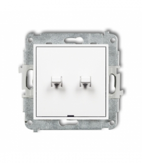 MINI Mechanizm łącznika świecznikowego w stylu amerykańskim Biały Karlik MWPUS-2