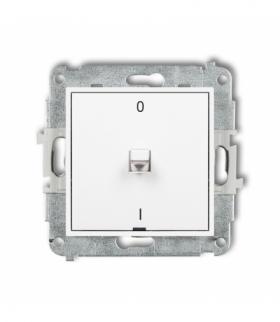 MINI Mechanizm łącznika dwubiegunowego w stylu amerykańskim Biały Karlik MWPUS-9