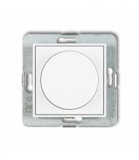 MINI Mechanizm elektronicznego regulatora oświetlenia przyciskowo-obrotowego do lamp LED Biały Karlik MRO-2