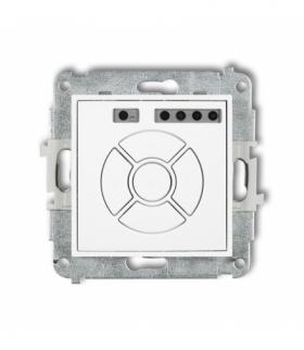 MINI Mechanizm elektronicznego sterownika roletowego (przycisk centralny/dodatkowy) Biały Karlik MSR-6